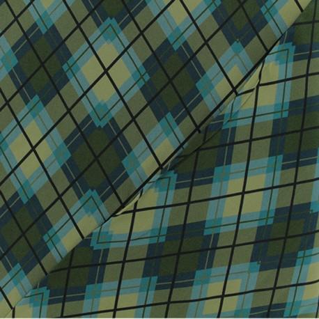 Viscose Fabric - Green Notting Hill x 10cm