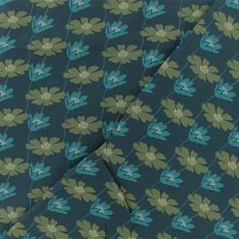 Tissu Viscose Bathilda - bleu x 10cm