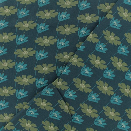 Viscose Fabric - Green Notting Hill x 10cm