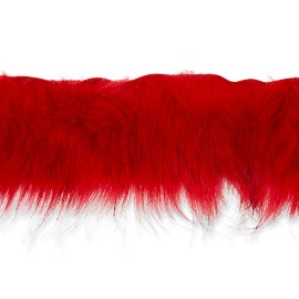 70 cm Faux Fur Collar - Red Hiverno