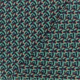 Tissu twill viscose Majorque - vert Céladon x 10 cm