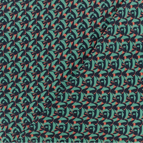 Twill viscose fabric - Celadon green Majorque x 10 cm