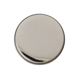Flat Metal Button - Nickel