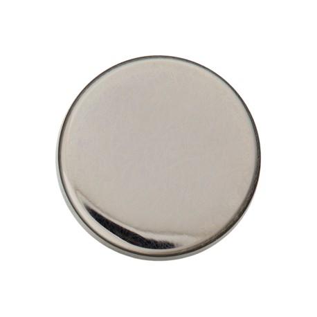 Flat Metal Button - Nickel