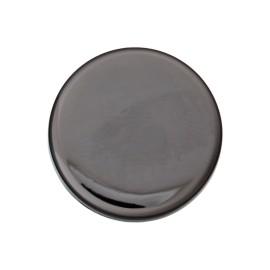 Bouton Métal Plat - Nickel Noir