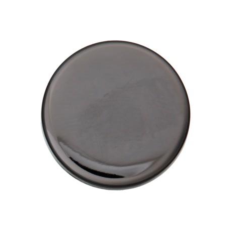 Flat Metal Button - Black Nickel