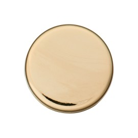 Flat Metal Button - Gold