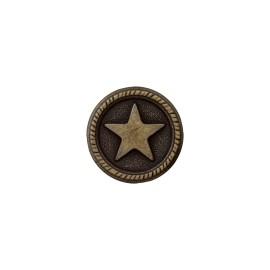 Bouton Métal Étoile du Marin - Vieux Bronze