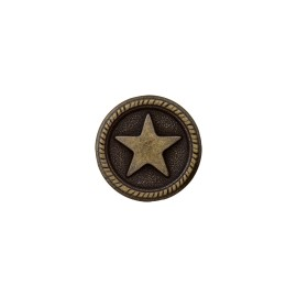 Metal Button - Ancient Bronze Sailor'Star