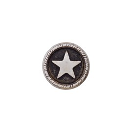 Metal Button - Ancient Silver Sailor'Star