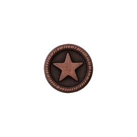 Bouton Métal Étoile du Marin - Vieux Cuivre