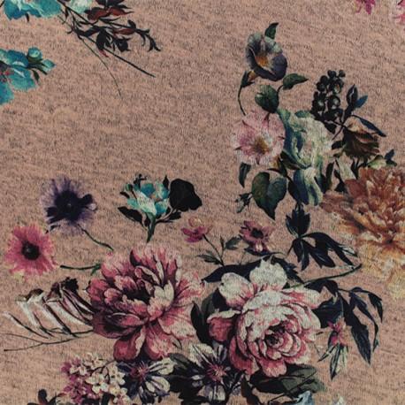 Light Knitted jersey fabric - Cream Malaga Cove x 10cm