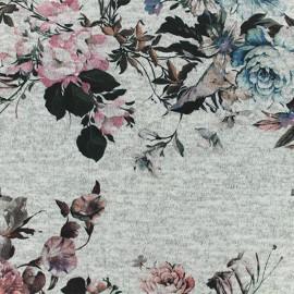 Tissu jersey maille légère Agrippine - rose chiné x 10cm