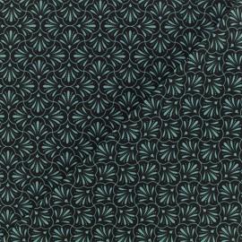 Microfiber fabric - Black Nautilus x 10cm