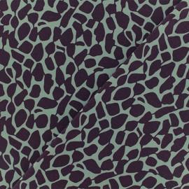 Microfiber fabric - Purple Giragraphic x 10cm