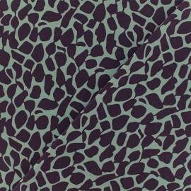 Tissu Microfibre Giragraphic - violet x 10cm
