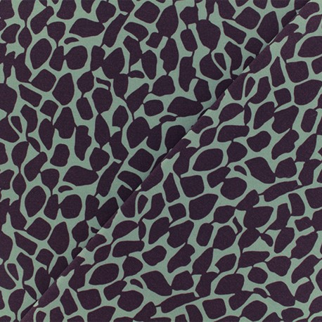 Microfiber fabric - Purple Giragraphic x 10cm