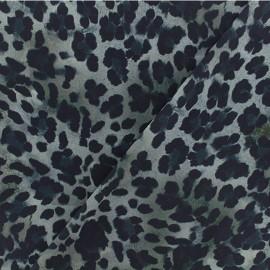 Tissu Microfibre léopard - gris x 10cm