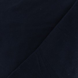 Tissu Flanelle - Bleu marine x 10cm