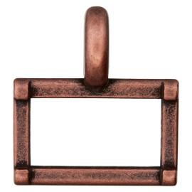 Boucle Métal Carro 25 mm - Cuivre Ancien