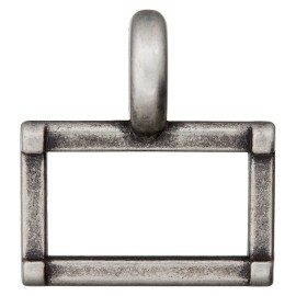 25 mm Metal Buckle - Ancient Silver Carro