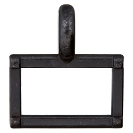 25 mm Metal Buckle - Black Carro