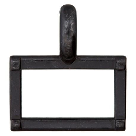25 mm Metal Buckle - Black Carro