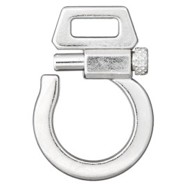 10 mm Metal Buckle - Silver Fantasia
