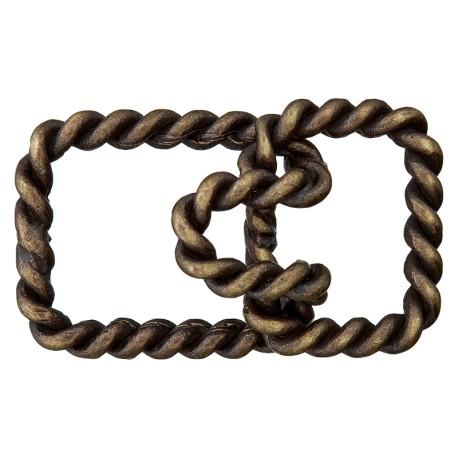 30 mm Metal Hook and Eye Closure - Bronze Twist