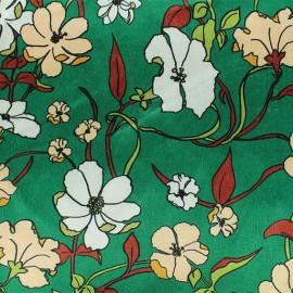 Elastane velvet fabric - green Aphrodite x10cm