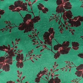 Tissu velours élasthanne Aphrodite - vert x10cm