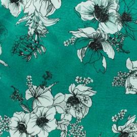 Elastane velvet fabric - Celadon Héra x10cm