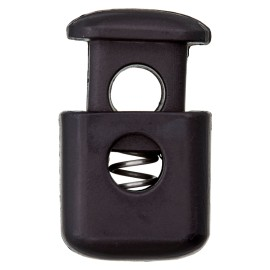 38 mm Polyester Cord Lock Stopper - Black Block