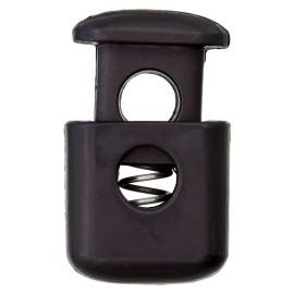 Arrêt Cordon Polyester Block 38 mm - Noir