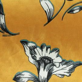 Tissu velours élasthanne Athéna - jaune x10cm