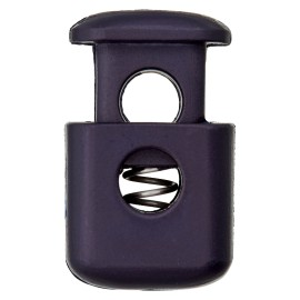 38 mm Polyester Cord Lock Stopper - Navy Block