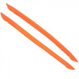 Bell-botton bag-handles - fluorescent orange