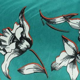Tissu velours élasthanne Athéna - Céladon x10cm