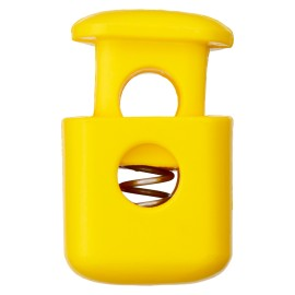 38 mm Polyester Cord Lock Stopper - Yellow Block