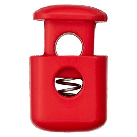 38 mm Polyester Cord Lock Stopper - Red Block