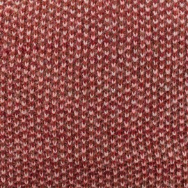 ♥ Coupon 140 cm X 145 cm ♥  Lurex Light knitted fabric - red