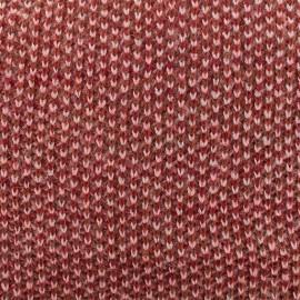 Tissu Maille tricot lurex - rouge x 10cm