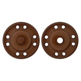 Bouton Pression Polyester Clipso 23 mm - Marron