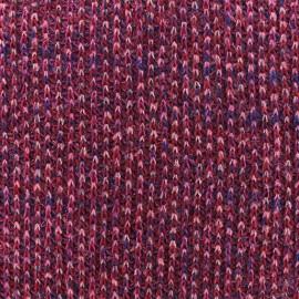 Tissu Maille tricot lurex - Fuchsia x 10cm
