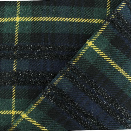 Wool fabric - Blue Rupert x 10cm