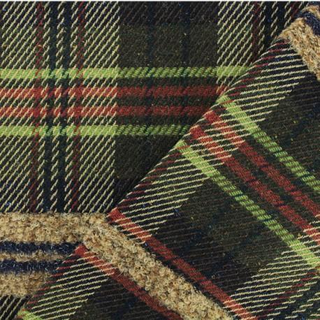 Tissu Lainage Harry - vert x 10cm