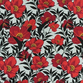 Twill Viscose Fabric - Red lola x 10cm