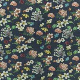 Jersey cotton fabric - Blue Grey La clé des champs  x 10 cm