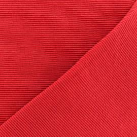 Tissu jersey 500 raies - rouge x 10cm