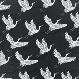 Tissu coton Makower UK Kimono Cranes - Gris x 10cm